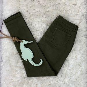 Ruff Hewn Green Skinny Jeans Size 12